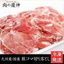 【九州産・国産】豚コマ切り落とし約500g 豚小間/こま切れ/切落とし/冷凍/豚肉/