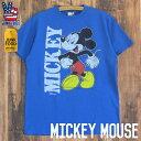 JUNK FOOD ジャンクフード / Mickey Mouse ミッキーマウス / メンズ Tシャツ 丸胴 ビンテージ仕上げ