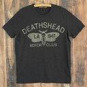 ショッピングTシャツ ジョンソンモータース メンズ 半袖 Tシャツ Johnson Motors DEATHSHEAD ブラック