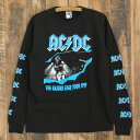 JUNK FOOD ジャンクフード AC/DC RAZORS EDGE TOUR 91 メンズ ロングTシャツ