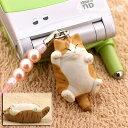 [予約]でぶ猫 ビーズ携帯ストラップ 茶トラ明(02)