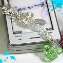 [予約]ディズニーちゅら玉クリスタル携帯ストラップ(ミッキー/緑)【Disneyzone】【楽ギフ_包装】