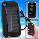 【ソーラーチャージジャケット-アイ】【ギフトショー春2010で出展】【太陽光充電】【iPhone3GS専用】ソーラーハイブリッド充電ケース solar charge jacket-i(ブラック)【ソーラーチャージジャケット-アイ】【ギフトショー春2010で出店】【太陽光充電】【iPhone3G/3GS専用】