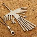 手作りメタル古代の神秘ナスカの地上絵携帯ストラップ(CONDOR コンドル)【バッグや財布にもGOOD】