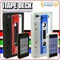 iTape Deck カセットテープ型iPhone 4シリコンケース(ブラックxレッド)