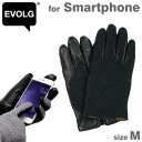 EVOLGスマートフォン対応デザイン手袋(FIELD/ブラック/size M)【RCP】【楽ギフ_包装】
