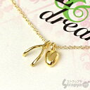 【41%OFF】[DOGEARED]新作・ドギャードジュエリーネックレス(ウィッシュ・ボーン)Love & Dream Gold Dipped on Silver Necklace【necklace】【雑誌掲載】(あす楽対応)【あす楽対応_関東】【あす楽対応_北陸】【Bh】【soryouk】【smtb-TD】【yokohama】【送料無料】