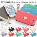 iPhone6s iPhone6 アイフォン6 ケース 手帳型 KLOGI (ハート)【 スマホケース iphone6s 手帳 手帳...