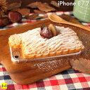 送料無料 iPhone7 ケース 食品サンプル カバー 和栗 モンブラン ケーキ 【 スマホケース iphone7ケース カバー マロン スイーツ ギフト 日本製 アイフォン7 ハードケース iphone 】