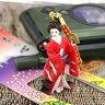 日本の心 浅草系ジャパン人形ストラップ(扇子美人)【バッグや財布にもGOOD】【クリスマスプレゼント】