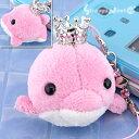 王冠キラキラ☆オーシャンパラダイス携帯ストラップ(イルカ/ピンク)【バッグや財布にもGOOD】