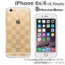 送料無料 iPhone6 iPhone6s ケース Highend Berry TPU クリアケース ストラップホール&保護キャップ付(チェッカード)【 スマホケース iPhone 6s ソフト 透明 tpuケース アイフォン6 カバー 】