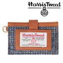 invite.L Harris Tweeds NAME CARD POCKET ハリスツイード カードポケット(Blue Check/ブルーチェック)【RCP】