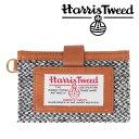 invite.L Harris Tweeds NAME CARD POCKET ハリスツイード カードポケット(BLACK & WHITE/ブラックホワイト)【RCP】