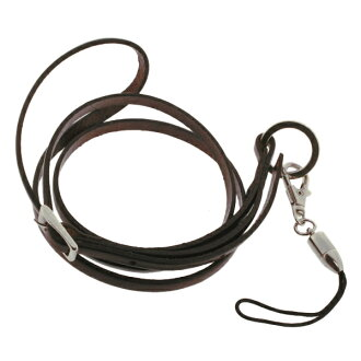 ID card holder ID card mobile neck strap lanyard luxury イタリアンレザーネックス strap (Brown) fs3gm