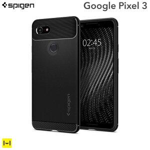 Google Pixel3 耐衝撃 ケース Spigen シュピゲン Rugg