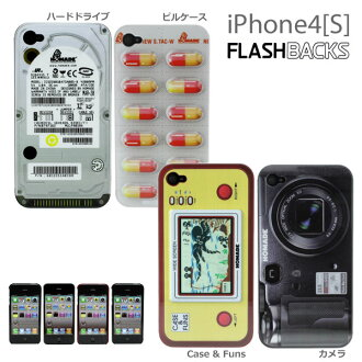 IPhone4S 사례 FLASHBACKS Old-School iphone 하드 케이스 (Apple/au/Softbank) (대응)