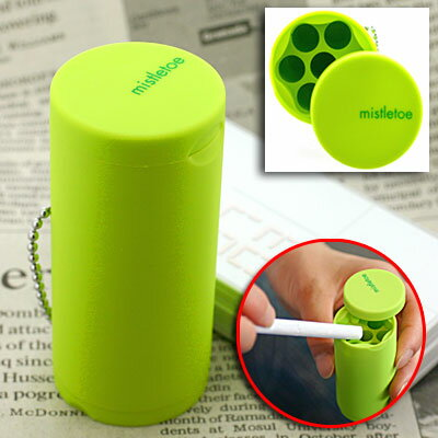 Try mobile manners! Ball chain with Pocket ashtrays mistletoe (lime green) MLT-45095 fs3gm
