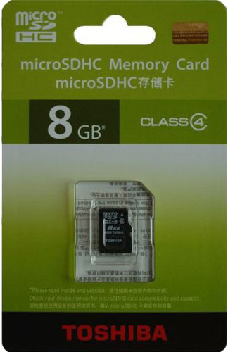 【メール便送料無料】東芝 microSDHC Class4 8GB 海外パッケージ品 アダプタ無し携帯機器向けの新しい超小型microSDHC[ 雑貨 メンズ レディース プレゼント 激安 特価 通販 ]