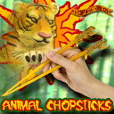 Chopsticks   animal chop stick (tiger) that the animals which [stock ant] is ferocious, and are pretty are stylish [popular among birthday present &amp; gifts in Father's Day] [point deep-discount sale]