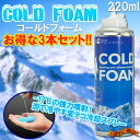 Three [stock ant ][ slightly advantageous set ♪] cold form COLD FOAM cooling spray 220 ml [get completely exhausted in surprising summer, and take measures] [heat stroke] [point deep-discount sale] [popular among birthday present & gifts]