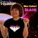 【New★Item】【0209_ichiba】【レディスポイント0219】【在庫アリ!】【21%OFF】【Tコライザーを独占輸入☆T-Qualizer for Girls☆新色ブラック】音でメチャカワ光るハートのイコライザーTシャツ【Tコライザー】【LF20123】