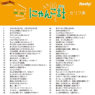 にゃんこ計(ミケネコ温度計&湿度計)