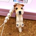 【予約】DOG ビーズ携帯ストラップ ワイヤーフォックステリア