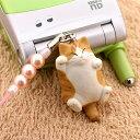 【予約】でぶ猫 ビーズ携帯ストラップ 茶トラ明(02)