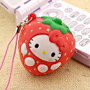 [stock ant] hello kitty fruit and straw or mascot (】 【 point deep-discount sale 】 popular among birthday present & gifts in strawberry )NS0070-4 (key ring) 【 Father's Day)