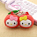 [stock ant] hello kitty fruit and straw or mascot (  point deep-discount sale  popular among birthday present &amp; gifts in cherry )NS0070-7 (key ring)  Father's Day)