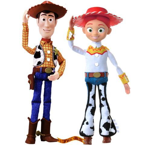 【お得なセット】ディズニー トイ・ストーリー4 リアルサイズトーキングフィギュア ウッディ / ジェシー ( トイストーリー4 / Disney Pixer Toy Story4 )