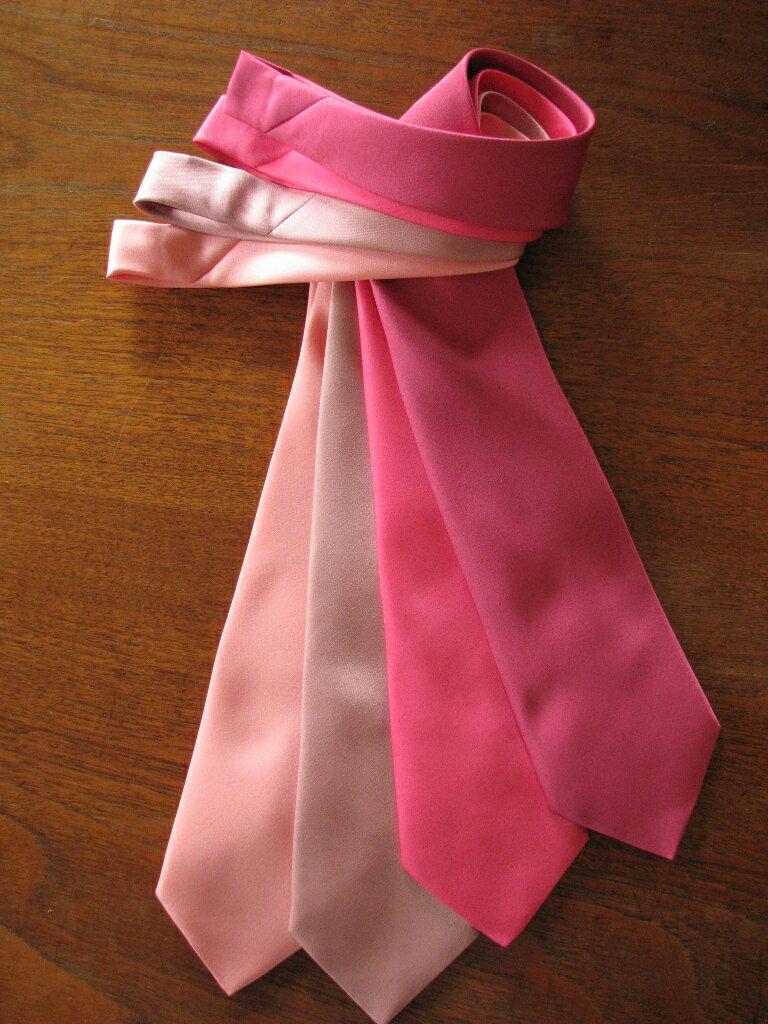 カラー無地ネクタイ織 ピンク系☆5本までネコポス発送可能☆(購入手続き時の配送方法にて選択できます)