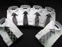 1点当たり【482円!】ワイシャツ&ネクタイ♪シックなモテ男のモノトーン12点セット