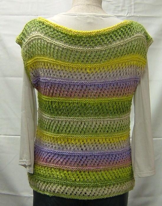 秋冬糸野呂英作あやとりで編む棒針編みベストの編み... 【楽天市場】秋冬糸 野呂英作 あやとりで