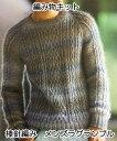 秋冬毛糸 リッチモアバカラエポックで編む棒針編みメンズセーターの編み物キットメンズラグランプル フリーサイズ【あみものキット/かぎ針編みキット/ニットキット/手作りキット/着分パック/無料編み図つきキット】