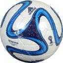 2014 FIFA ワールドカップ ブラジル大会 5号球 ブラズーカ グライダー ホワイト×ブルー 【adidas|アディダス】サッカーボール5号球as594wb