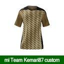 mi Team 14 Jersey M Kemari87カスタムジャージー ゴールド×ブラック 【adidas|アディダス】サッカーフットサルウェアーmit14-jsy-gldblk