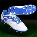 メッシ 10.3 HG J ランニングホワイト×プライムブルーS12 【adidas|アディダス】サッカージュニアスパイクaf5835