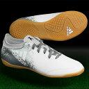 ジュニア エックス 16.3 CT J ランニングホワイト×シルバーメット 【adidas アディダス】ジュニアフットサルシューズbb4153