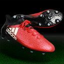 エックス 16.1 FG/AG レッド×ランニングホワイト 【adidas|アディダス】サッカースパイクbb5618