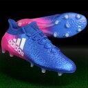 エックス 16.1 FG/AG ブルー×ランニングホワイト 【adidas|アディダス】サッカースパイクbb5619