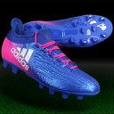 アディダス adidas サッカースパイク メンズ エックス 16.2-ジャパン HG 【bb5638】 ブルー×ランニングホワイト