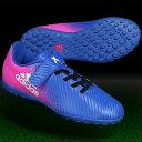 ジュニア エックス 16.4 TF J ベルクロ ブルー×ランニングホワイト 【adidas|アディダス】ジュニアトレーニングシューズby2943