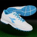 650 III TF ホワイト×ブルーフルオ 【diadora|ディアドラ】サッカーフットサルトレーニングシューズ170906-6087