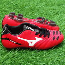 2 イグニタス Jr MD red X white [MIZUNO|] Mizuno 】 soccer Junius pike 12kp-25501