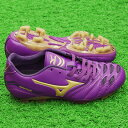 2 イグニタス Jr MD purple X gold [MIZUNO|] Mizuno 】 soccer Junius pike 12kp-25550