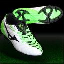 イグニタス 3 Jr MD ホワイト×ブラック×グリーン 【MIZUNO ミズノ】サッカージュニアスパイクp1gb153237