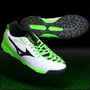イグニタス 3 AS ホワイト×ブラック×グリーン 【MIZUNO|ミズノ】サッカートレーニングシューズp1gd153237
