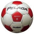 ペレーダ3000 シャンパンシルバー×メタリックレッド 【molten|モルテン】サッカーボール4号球f4p3000-wr